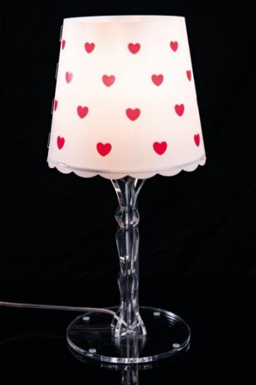 Lampada da Tavolo Piccola Cuori Rossi - Celine