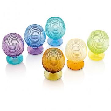 Calice Acqua set 6 pz - Multicolor