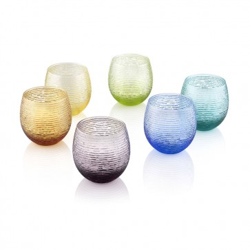 Bicchiere Acqua set 6 pz colori assortiti - Multicolor
