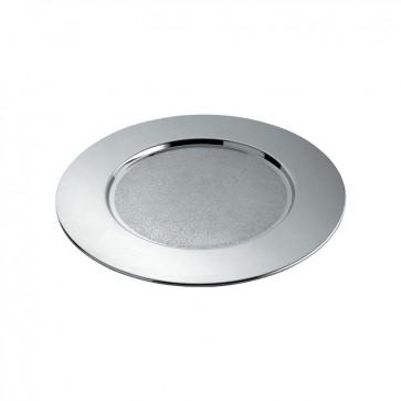 Sottopiatto in acciaio - Disco cesellato