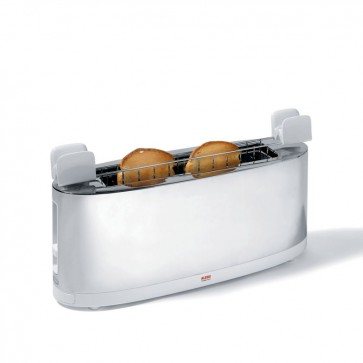 Tostapane con griglia scaldabrioche in acciaio