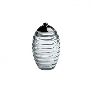 Spargizucchero in vetro cristallino - Sugar jar